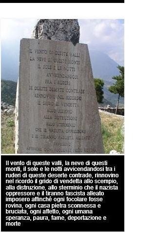 Monumento alla Resistenza, epigrafe di Carlo Bernani, Gessopalena